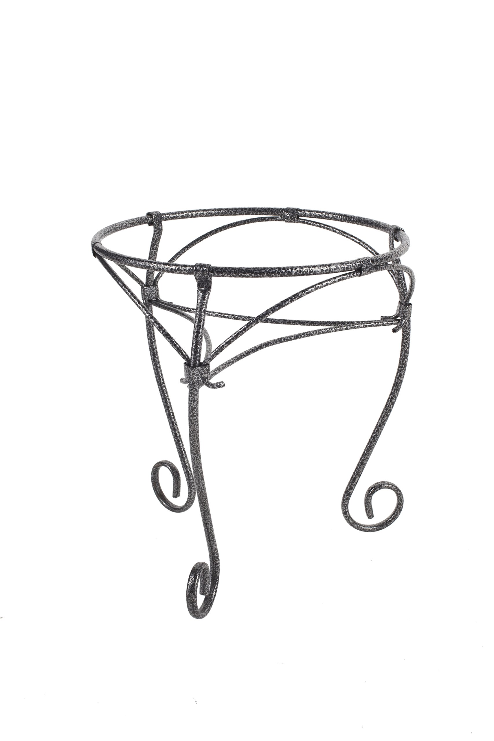 Plant Stands 15'' w/3 legs Hammered Silver (10 pack) 15''