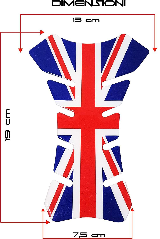 quattroerre 18098/Protecci/ón Dep/ósito Moto 3d bandera Ingl/és