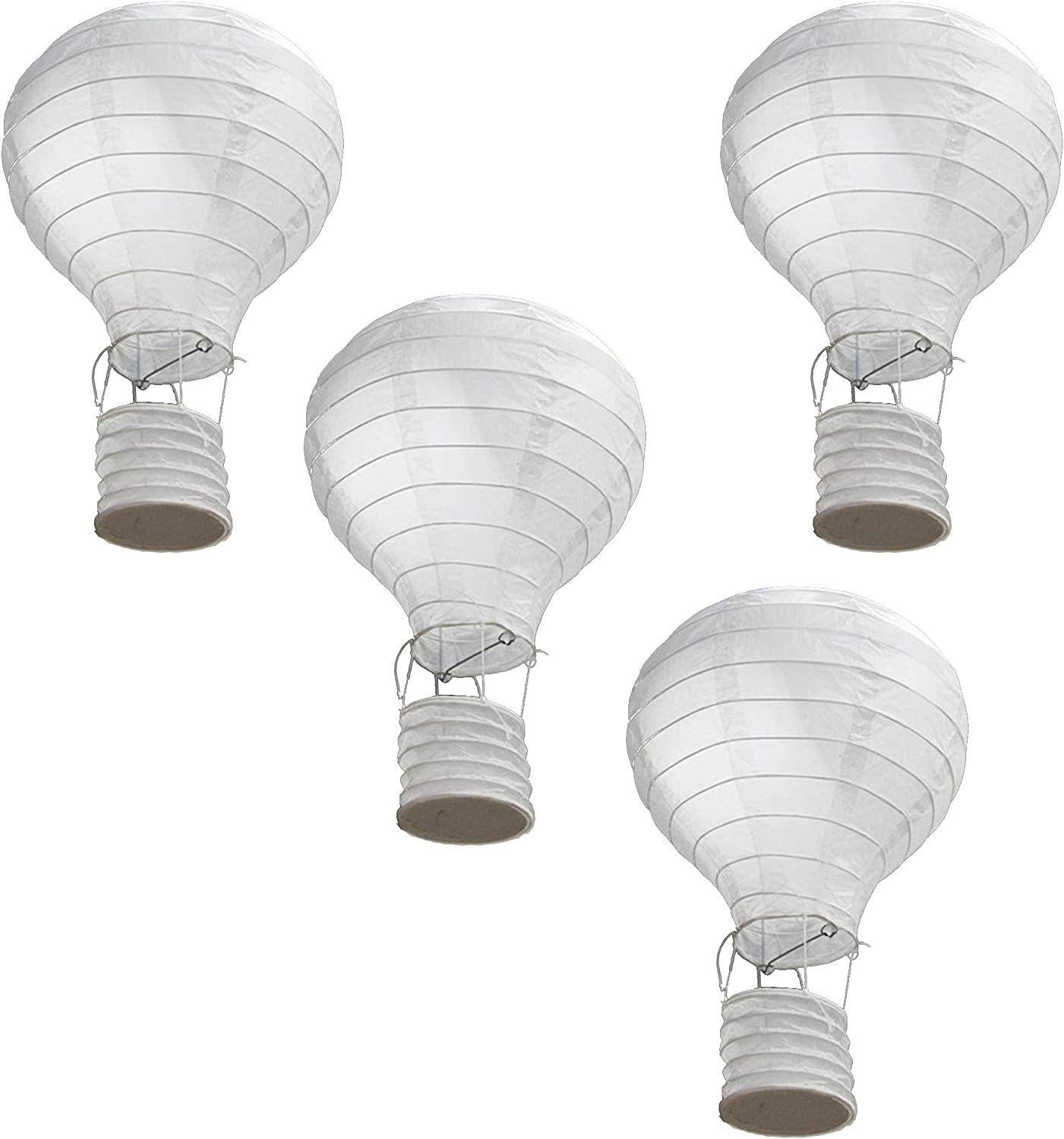12 Inch Hot Air Balloon Paper Lantern DIY Painting Religion Pattern Ceiling Light Shade 4-Pack Reusable Bedroom Fun Lamp Decor Holiday Wedding Birthday Anniversary Christmas Engagement Decorations