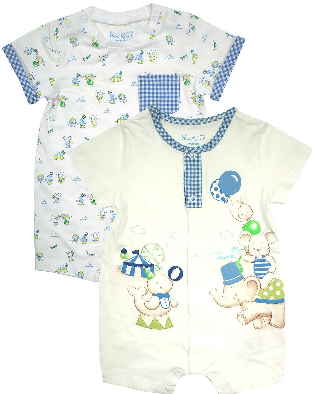 Marineblau-wei/ß-rot Set Baby-Spieler Teddy AHOI Mayoral Baby Jungen 2er Pack