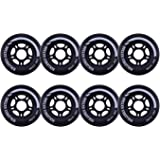 8-pack and 2-pack, Rollerex VXT500 Inline Skate/Rollerblade Wheels (Multiple Size and Color Options Available)