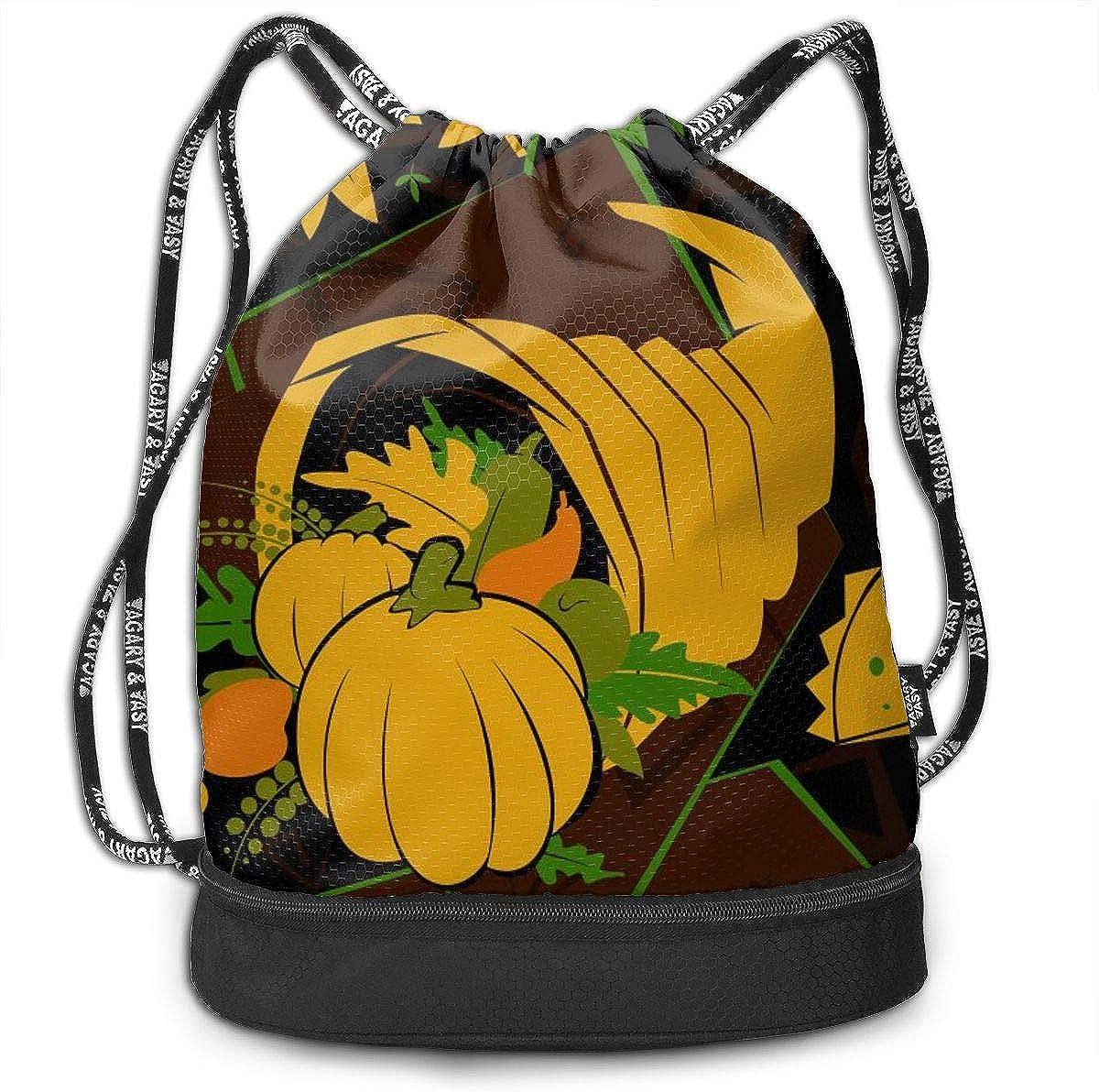 Gym Yoga Runner Sports Daypack Thanksgiving Turkey Funny Art Drawstring Bag For Girls /& Boys Portable Bundle Backpack