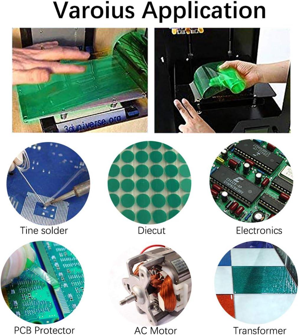 ruban PET avec adh/ésif en silicone id/éal pour peinture anodisation rev/êtement en poudre Ruban de masquage en polyester haute temp/érature circuits imprim/és