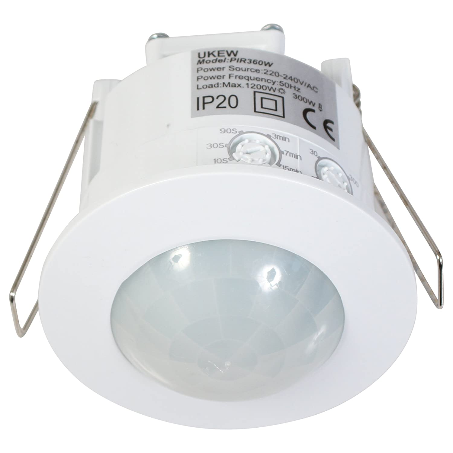 Recessed 360 Degree Pir Ceiling Occupancy Motion Sensor Detector Light Further Alarm Wiring Diagram Also 1200w Switch