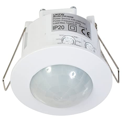 recessed 360 degree pir 1200w ceiling occupancy motion sensorrecessed 360 degree pir 1200w ceiling occupancy motion sensor detector light switch [energy class a ]