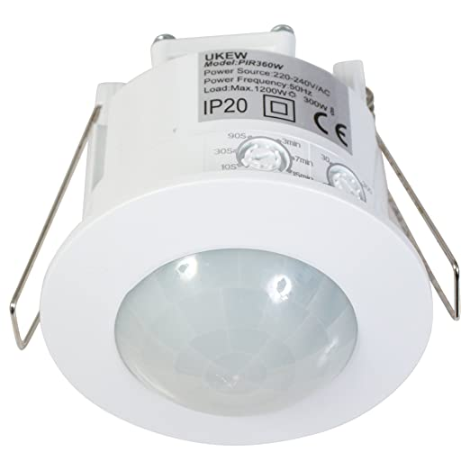 1 opinioni per Recessed 360 Degree PIR 1200w Ceiling Occupancy Motion Sensor Detector Light