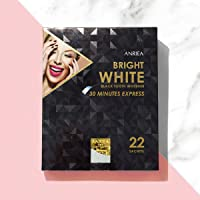 ANRIEA Black Tooth Whitener, Whitening Strips, Mild Charcoal Teeth Whitening for Sensitive Teeth, 30 Mins Express, 22-Day Treatments