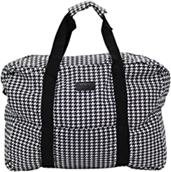 85dd31158 Charlie Paige Packable Boston Duffle, Houndstooth