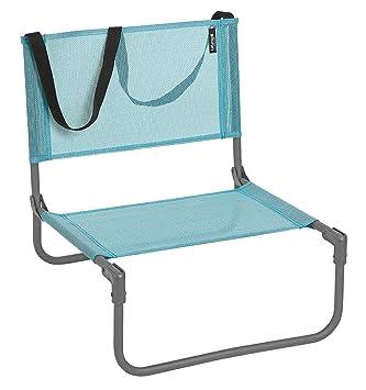 lafuma chaise basse de camping pliable cb batyline couleur lac - Chaise Basse