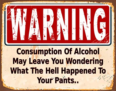 HALEY GAINES Warning Alcohol Placa Cartel Póster de Pared ...
