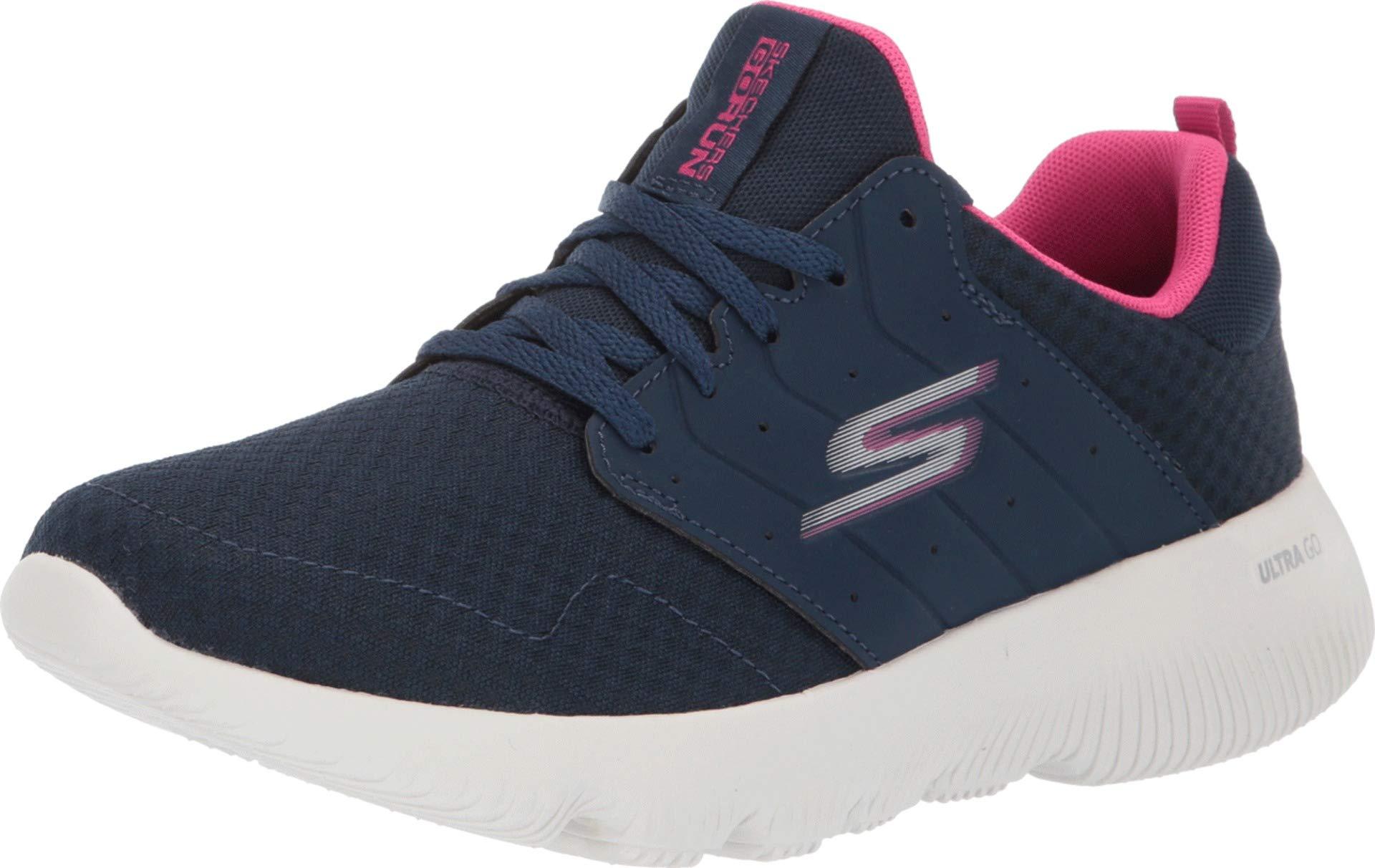 Skechers Women's Go Run Focus Navy/Hot Pink 5 B US