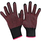 Heat Resistant Glove for Hair Styling,UsongShine Anti-Slip Professional Heat Blocking Glove for