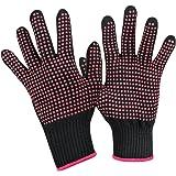 Heat Resistant Glove for Hair Styling,UsongShine Anti-Slip Professional Heat Blocking Glove for