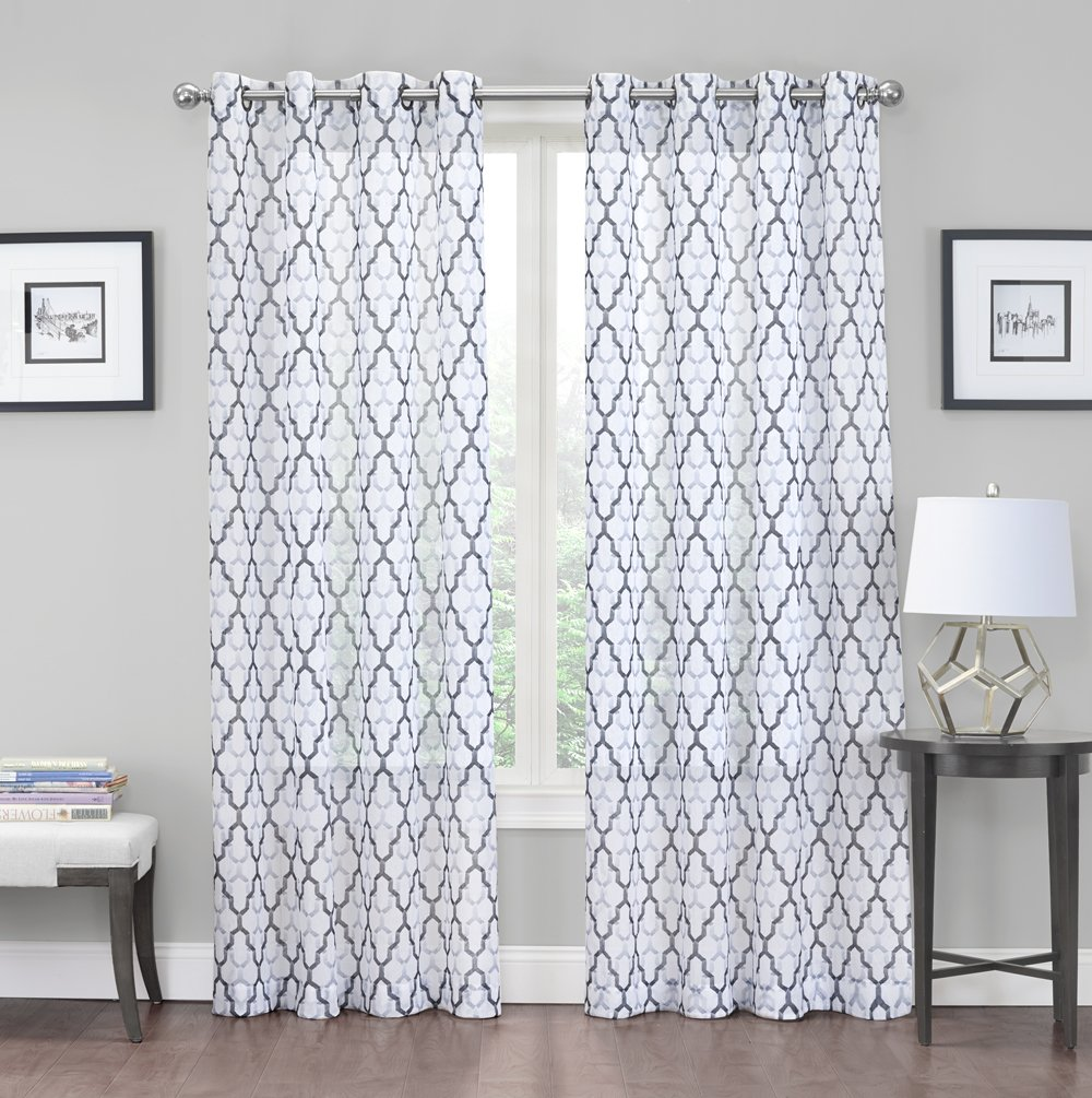 Amazon.com: 2 Pack: Kendall Luxurious Trellis Crushed Grommet ...