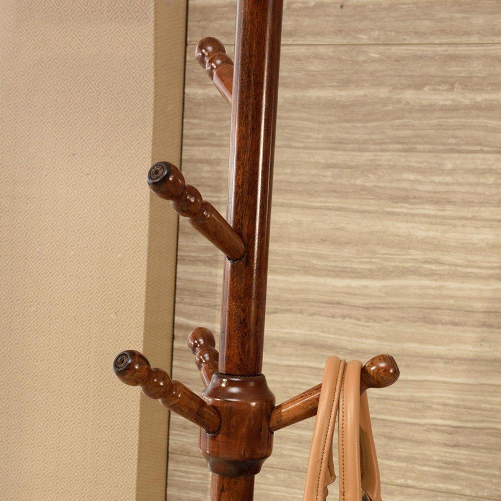 Amazon.com: Qfgis - Perchero de madera maciza para ...
