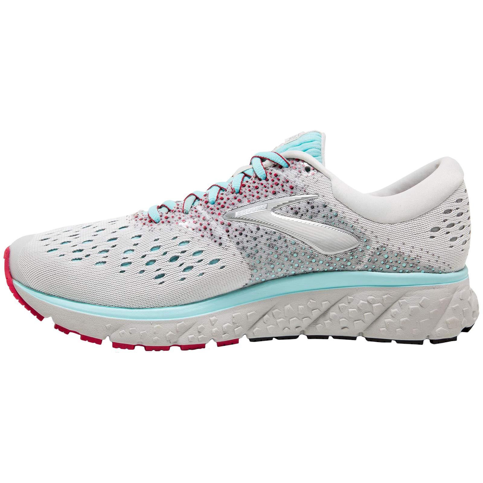 Brooks Women's Glycerin 16 White/Blue/Pink 5.5 B US by Brooks (Image #2)