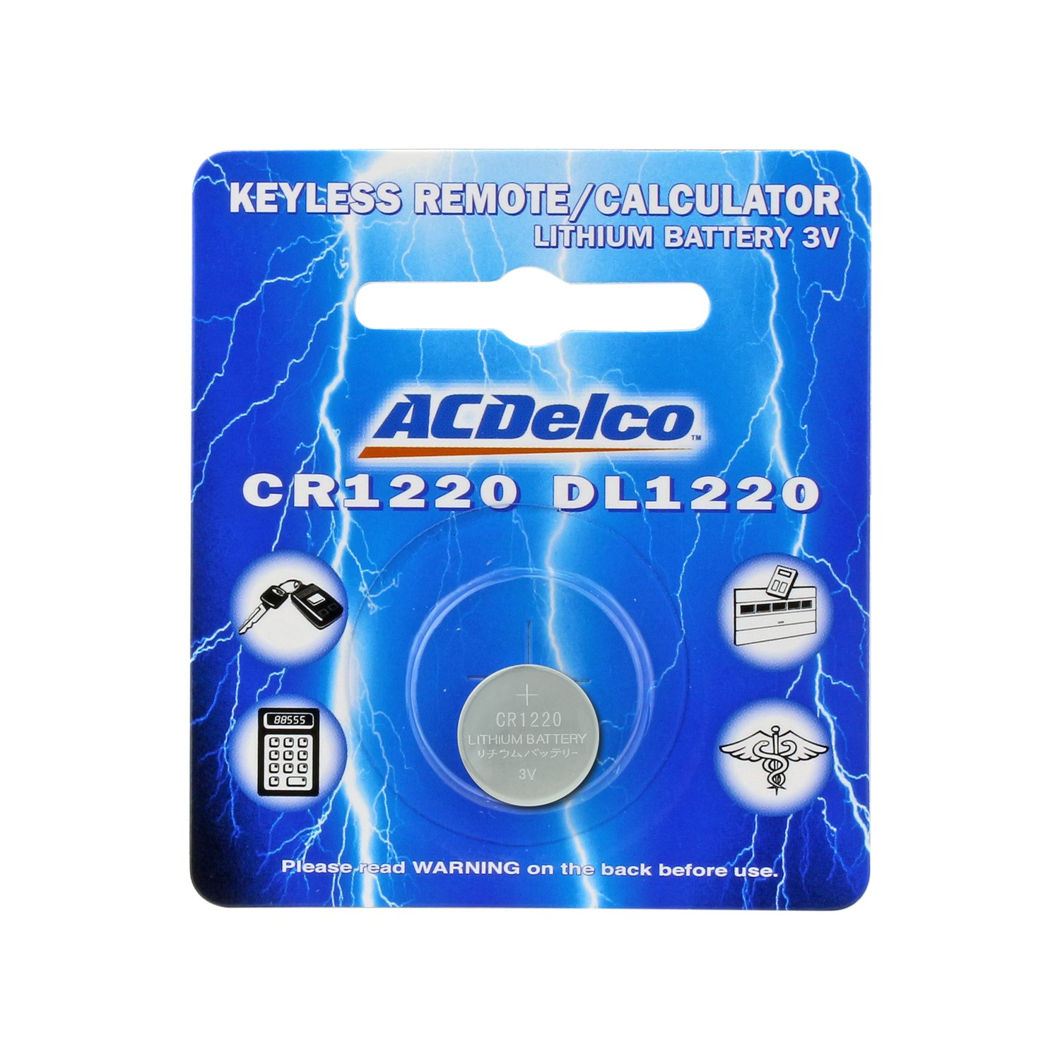ACDelco Volt High Performance Lithium Watch Button Cell Battery, Cr1220-3