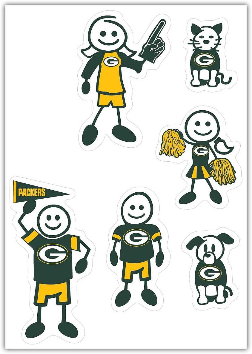 Siskiyou NFL Small Family Decal Set