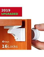 Baby Proofing and Childproof Cabinet Locks for Child Safety - for Kitchen Bathroom Cabinet and Drawer | Easy to Install and Hidden - by Baby Trust