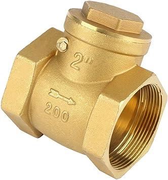 Female Thread Brass Non-Return Swing Check Valve Prevent Water Backflow/Durable /& Easy to Install