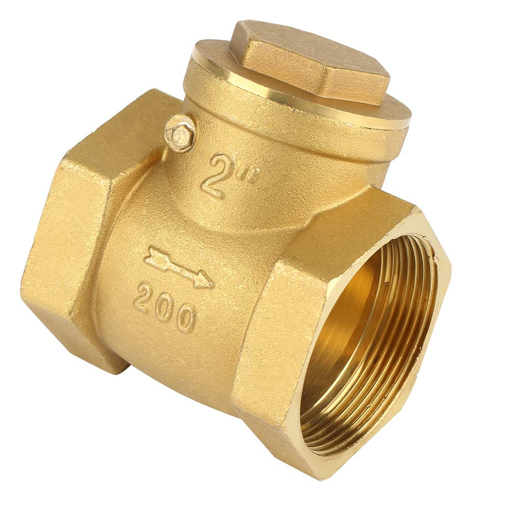 Check Valve,DN50 Brass Non-Return Valve,Swing Check Valve,232PSI Prevent Water Backflow Durable and Sturdy,for Water