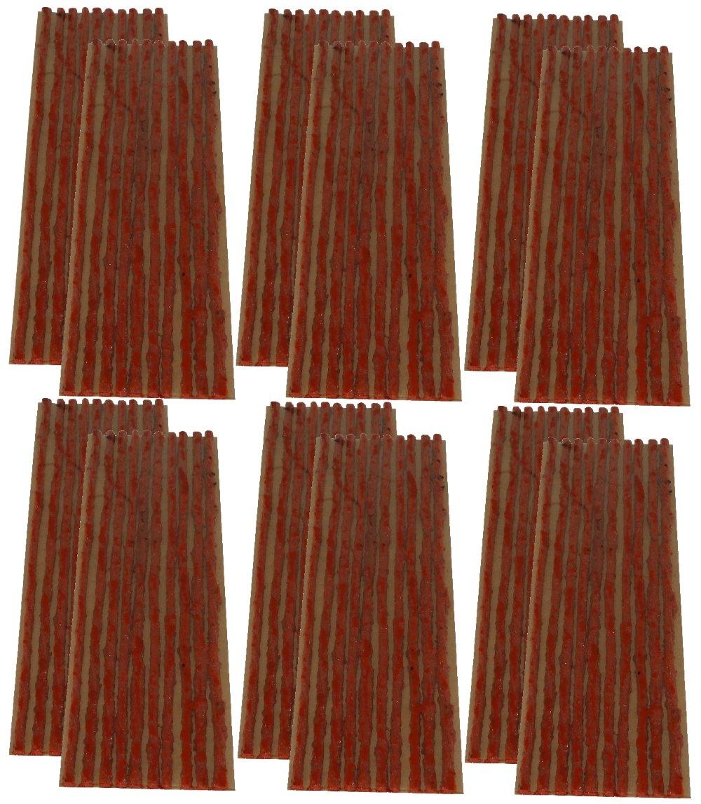 AERZETIX: Lot de 120 mèches 4mm 20cm Marron pour kit de réparation de Pneu C40656