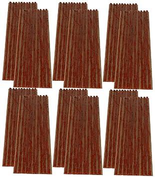 AERZETIX: Juego de 120 mechas 4mm 20cm Marron para Kit de reparacion de neumaticos C40656: Amazon.es: Coche y moto