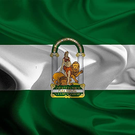 Oedim Bandera de Andalucia 85x1,50cm   Reforzada y con Pespuntes  Bandera de Andalucia con 2 Ojales Metálicos: Amazon.es: Hogar