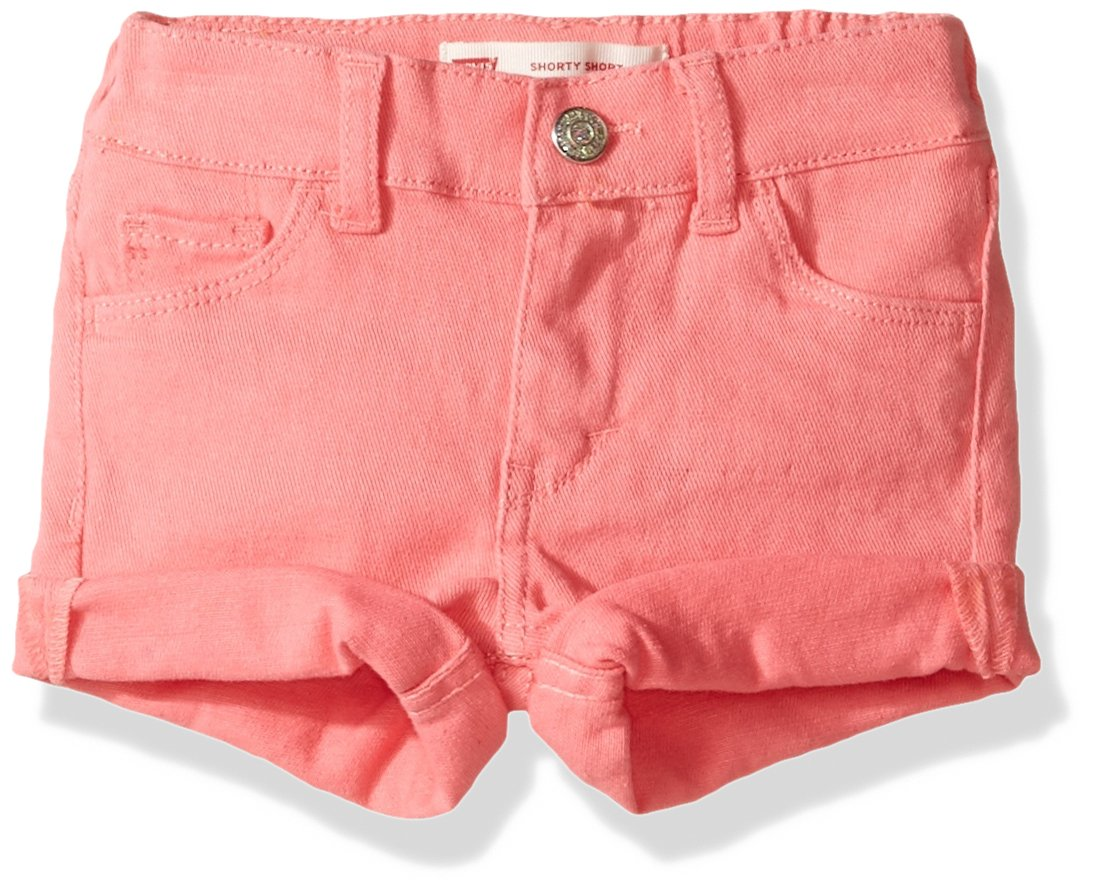 Levi's Girls' Summer Love Shorty Shorts, Strawberry Pink, 24M
