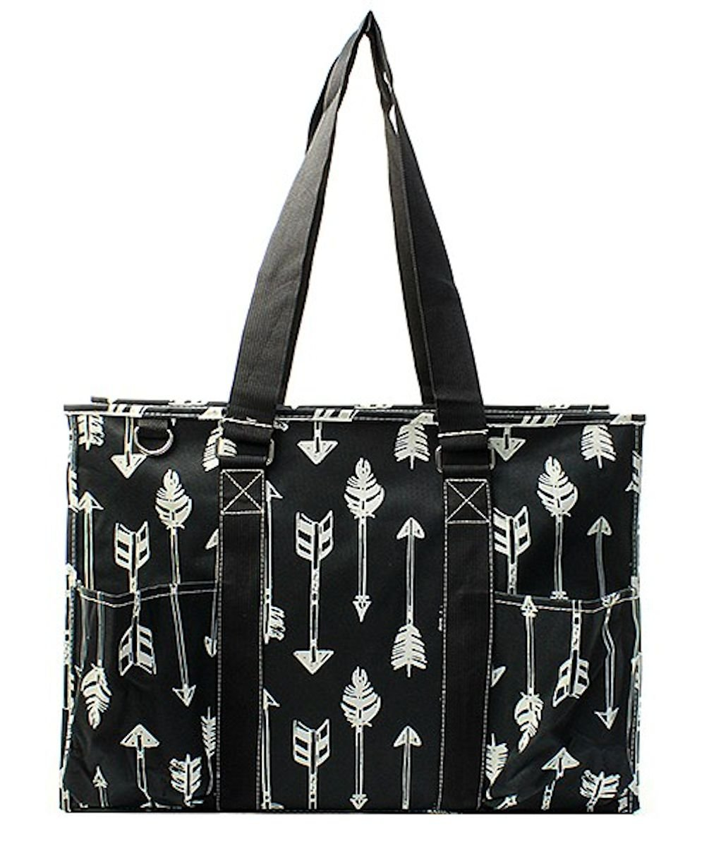 N. Gil All Purpose Organizer 18'' Large Utility Tote Bag 2 (Arrow Black)
