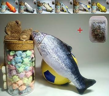 Maibar juguetes para gatos pescado juguetes gatos hierba gatera 3D inteligencia mariposa gatos hierba gatera Interactivo para gatos de interior (Trout ...