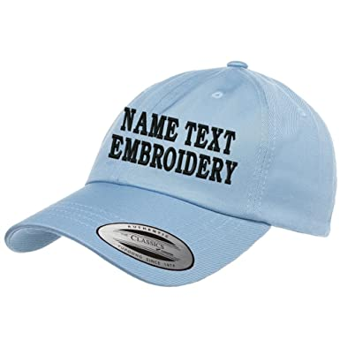 Custom Embroidered Dad Hat Personalized Unstructured Baseball Cap Yupoong -  Baby Blue c014881881c