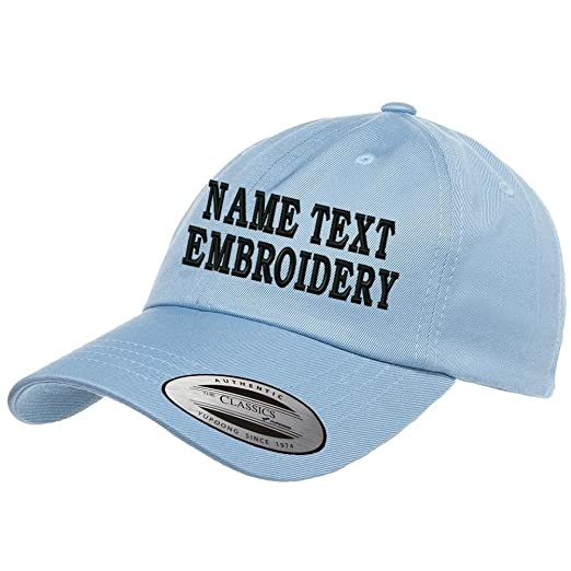 4effcfdcc58 Custom Embroidered Dad Hat Personalized Unstructured Baseball Cap Yupoong -  Baby Blue