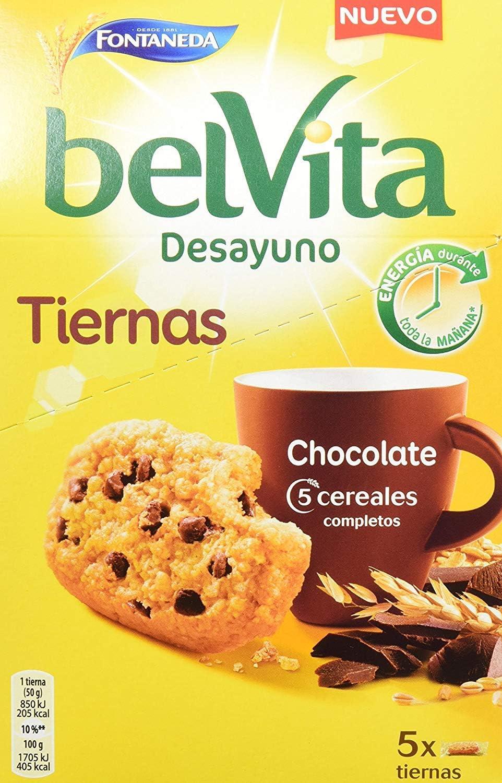 Belvita Soft Bakes Galletas con 5 Cereales y Chips de ...