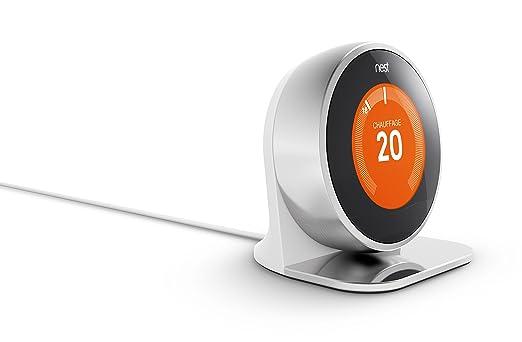 2 opinioni per Nest AT200477- Supporto per termostato Nest Learning, Argento (Argent)