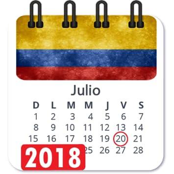 Calendario Colombiano.Amazon Com Calendario 2018 Colombia Con Festivos Semana