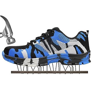 SUADEX Damen Herren Sicherheitsschuhe Sportlich Trekking Wanderhalbschuhe Stahlkappe Arbeitsschuhe Hiking Schuhe Traillaufschuhe, 03-grün, 37 EU