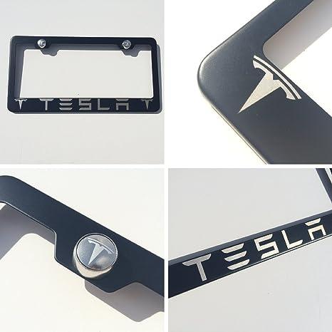 Amazon.com: Black Powder Coated Tesla Laser Engraved Stainless Steel ...