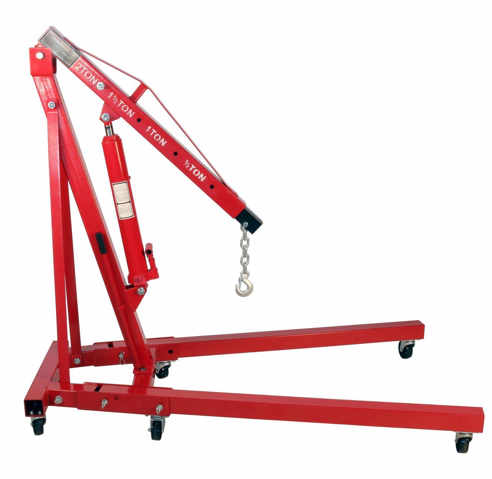 Dragway Tools 2 Ton Folding Hydraulic Engine Hoist Cherry Picker Shop Crane Hoist Lift by Dragway Tools (Image #1)