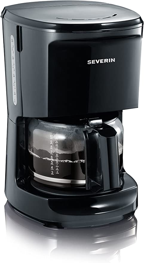 Severin KA 4481 - Cafetera, 1,4 l, 1000 W, color negro: Amazon.es ...