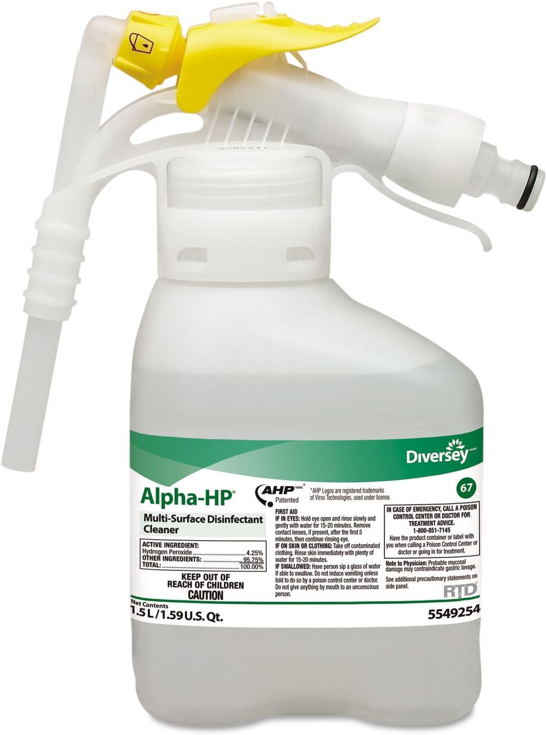 Alpha-HP Disinfectant Cleaner, 1.5 L, PK2