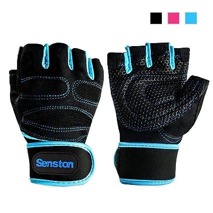 Senston guantes de deporte de medio dedo para ciclismo de montaña ... 7e92d6d1417b3