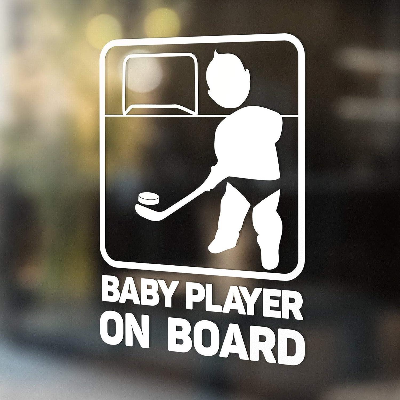 43LenaJon Autocollant amusant pour voiture de hockey avec inscription /« Baby Player on Board /»