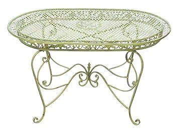 Amazon De Gartentisch 135cm Eisen Tisch Gartenmobel Grun Antik Stil