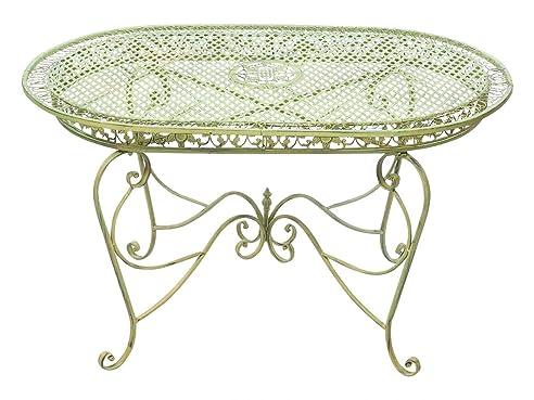 Gartentisch 135cm Eisen Tisch Gartenmöbel Grün Antik Stil Garten Iron Garden
