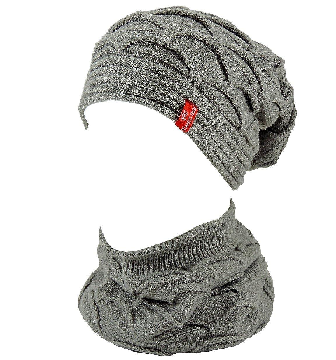Swe Cappello Scaldacollo invernale uomo donna ROMEO GIGLI - Completo 2 pezzi inverno