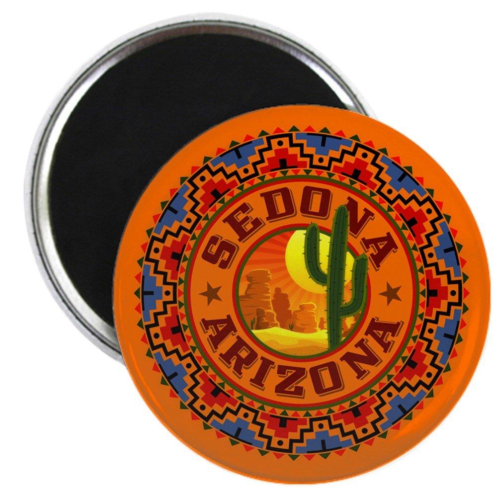 "CafePress Sedona Desert Circle 2.25"" Round Magnet, Refrigerator Magnet, Button Magnet Style"