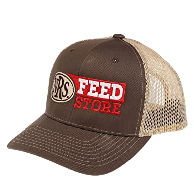 NRS Mens Feed Store Cap OS Brown Khaki at Amazon Men s Clothing store  45178b61700d