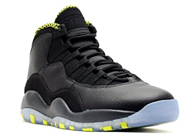 on sale a90bc 25e3c NIKE AIR JORDAN RETRO 10 MENS Black-Venom-Green-310805-033 sz 12.5