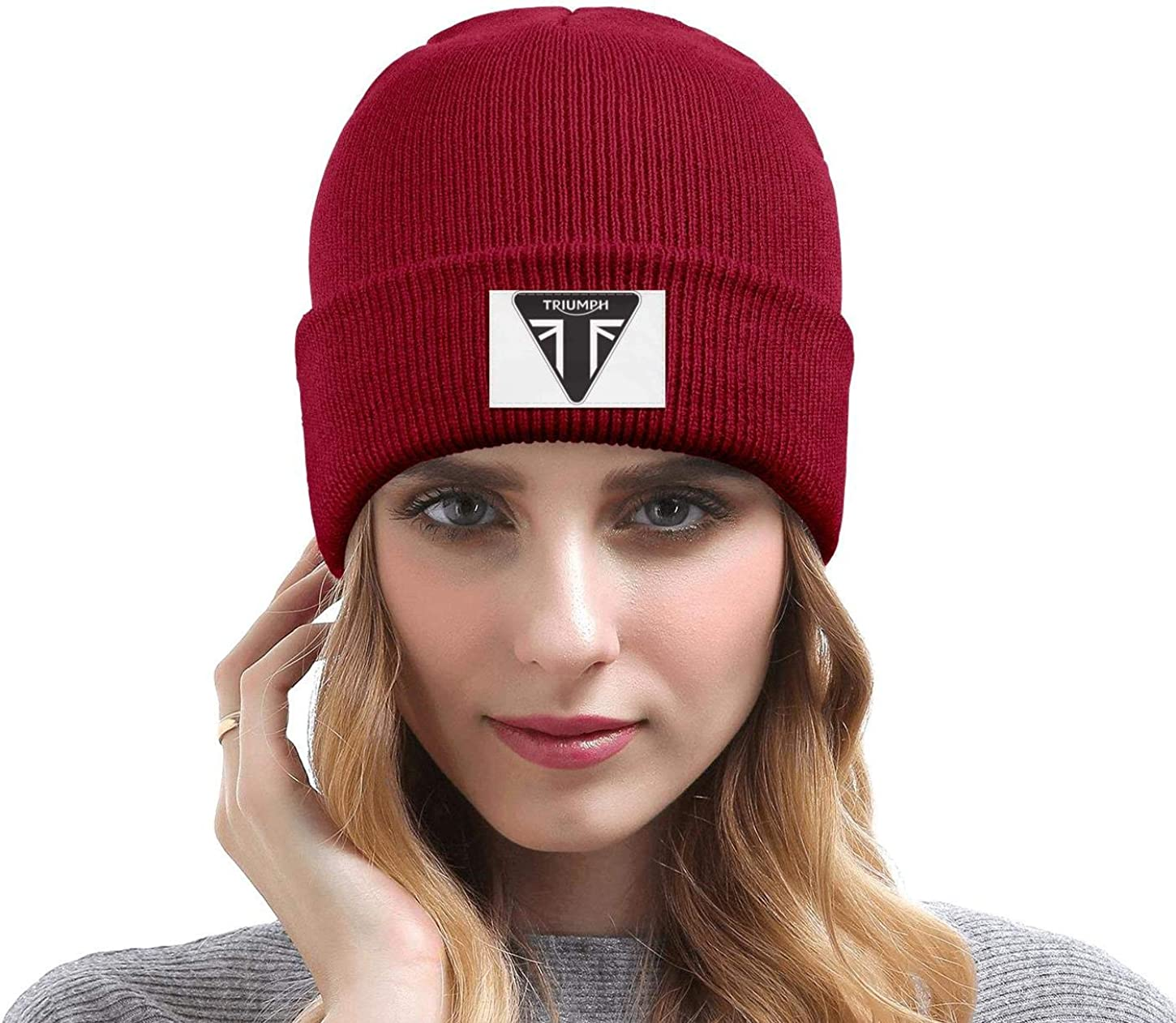 Men Womens Beanie Hat Triumph-Motorcycles-Logo Stretchy Knit Cap